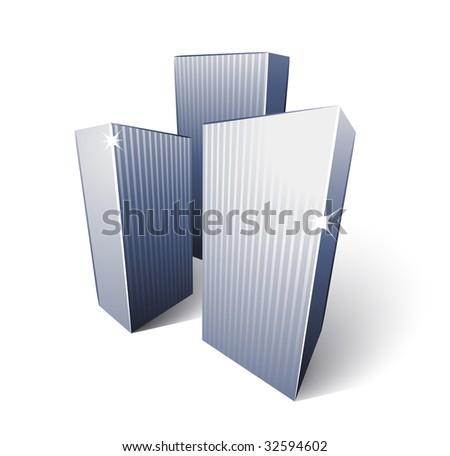 skyscrapers - stock vector