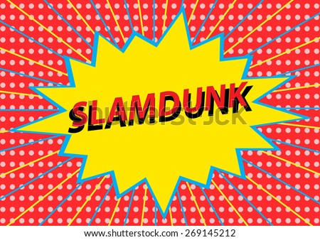 slamdunk - stock vector