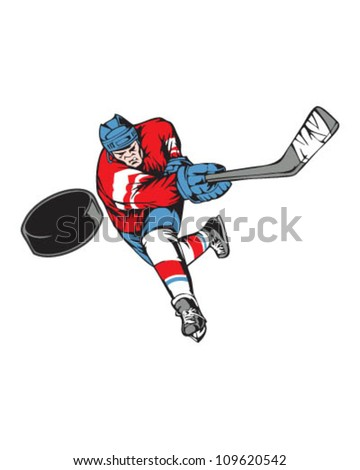 Slap Shot - stock vector