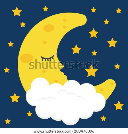 Sleep design over blue background, vector illustration. - stock vector