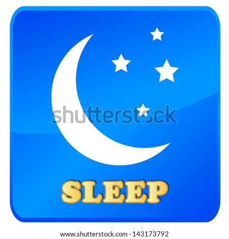 Sleep icon in unique style on a white background - stock vector