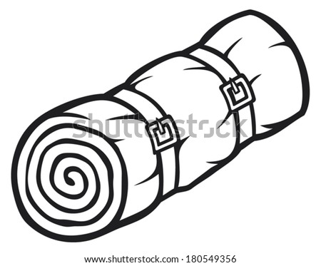sleeping bag coloring pages - photo#16