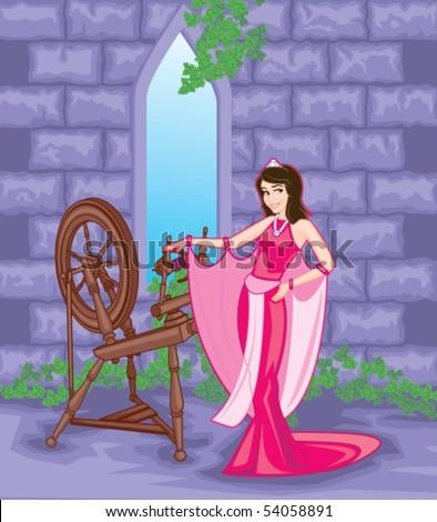 Sleeping Beauty Princess - stock vector