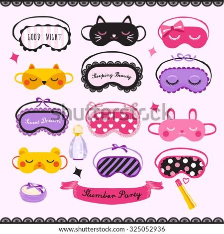 Sleeping Mask Vector Design illustration - stock vector