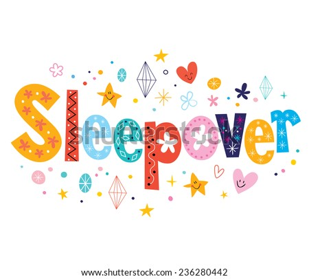 Sleepover - stock vector