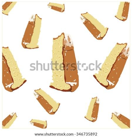 slices of Pandoro flying - stock vector
