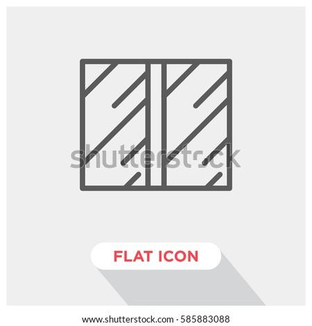Sliding door vector icon automated door symbol. Modern simple flat vector illustration for  sc 1 st  Shutterstock & Sliding Door Vector Icon Automated Door Stock Vector 585883088 ...