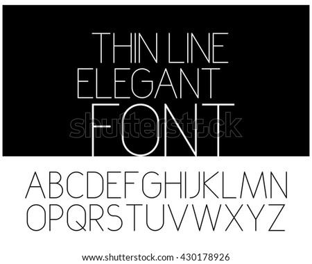 Slim elegant font. Vector alphabet - stock vector