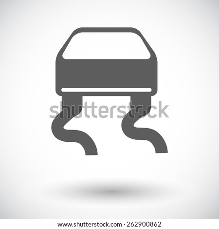 Slip-indicator. Single flat icon on white background. Vector illustration. - stock vector