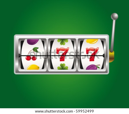 Slot machine - stock vector