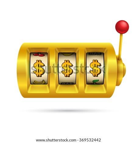 Slot machine isolated on white background. - stock vector