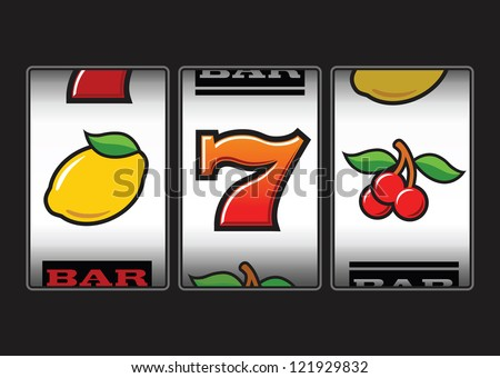Slot Machine symbols illustration - stock vector