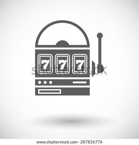 Slot. Single flat icon on white background. Vector illustration. - stock vector