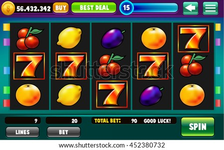 Slots Game GUI Assets - Reskin Template