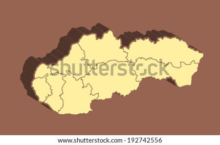 Slovakia  Vector Map  - stock vector