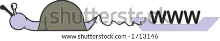slow internet - stock vector