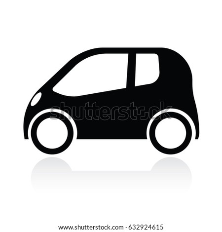 Small Abstract Car Black Color Isolated Stock Photo (Photo, Vector ...