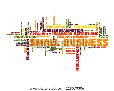 small business concept word cloud - stock vector