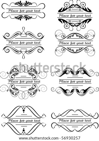 tattoo design elements stock vector 12460882 - shutterstock