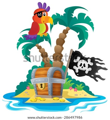 Small pirate island theme 1 - eps10 vector illustration.