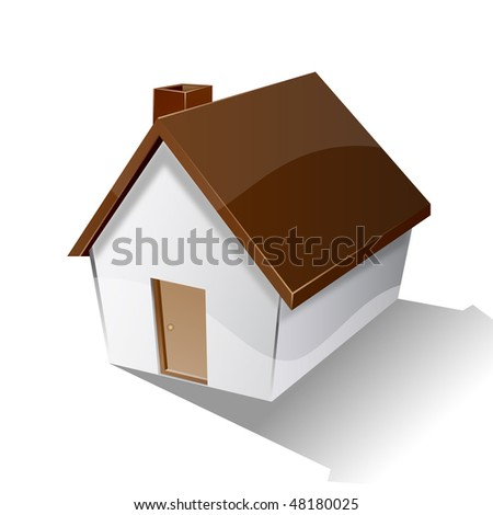 Small vector house | home icon - stock vector