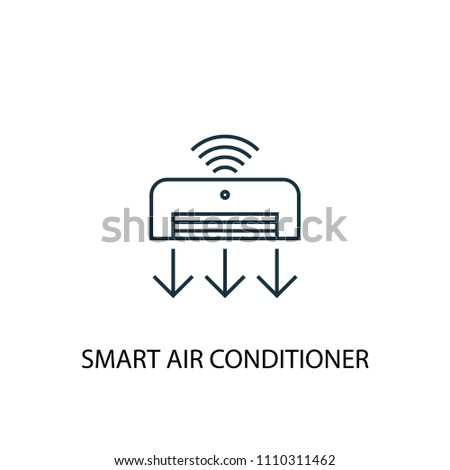 Smart Air Conditioner Concept Line Icon Stock Vector 1110311462