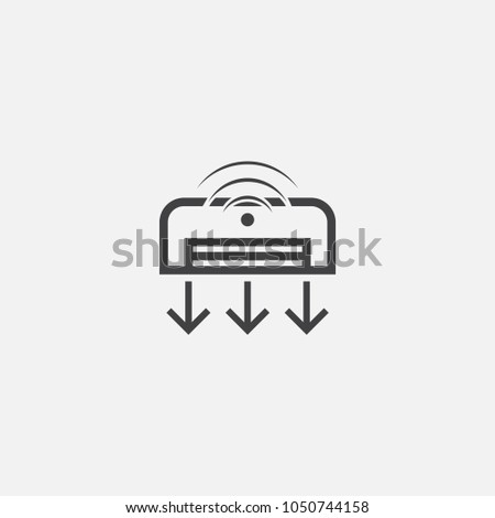 Smart Air Conditioner Icon Simple Element Stock Vector 1050744158