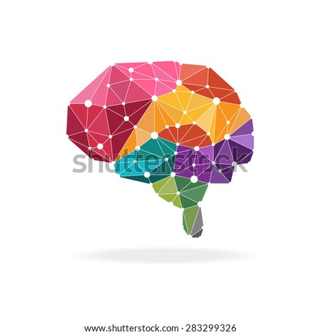 smart brain with polygons design.