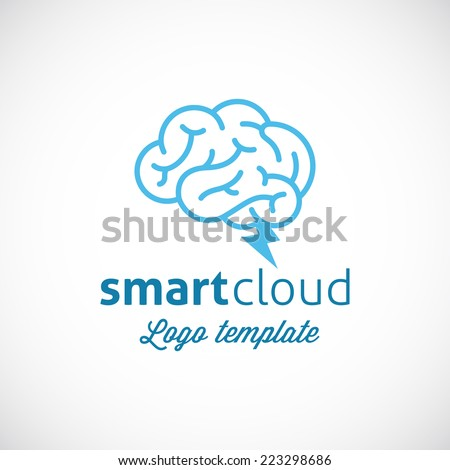 Smart Cloud Abstract Vector Logo Template Isolated - stock vector