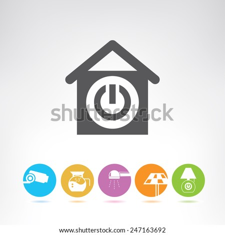 smart home - stock vector