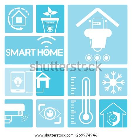 smart home concept - stock vector