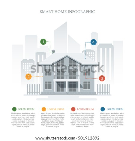 Smart home infographic infographic template smart stock for Home circulation system