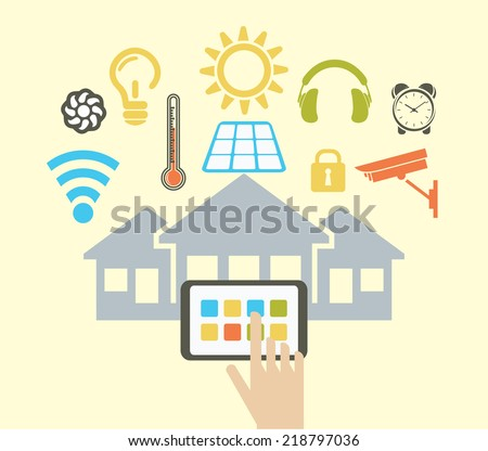 Smart house - stock vector
