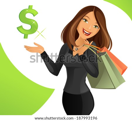 Smart Lady - stock vector