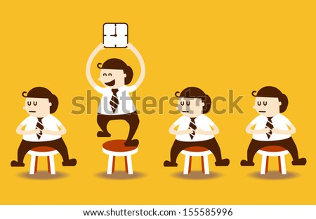 Smart management business man in other business people, EPS10 vector format - stock vector