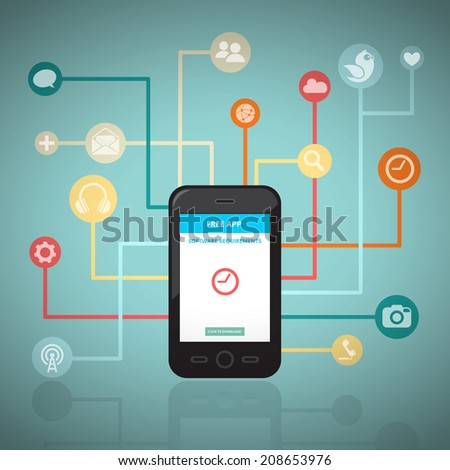 Smart Network  - stock vector