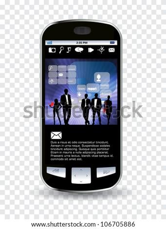 Smart phone - stock vector