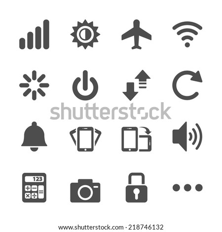 smart phone application icon set, vector eps10.