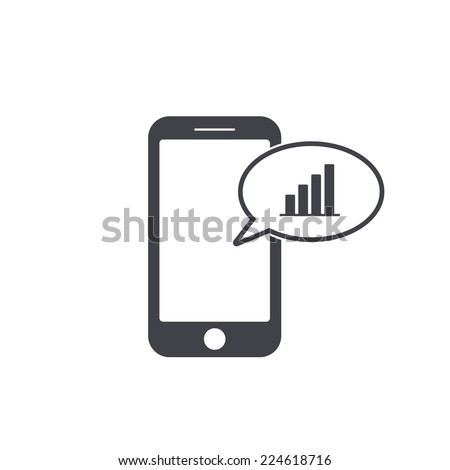 smart phone calendar icon - stock vector