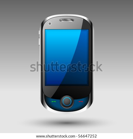 Smart phone editable vector file - stock vector