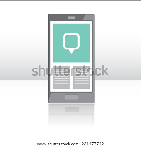smart phone flat design - stock vector