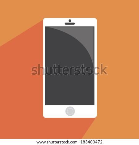 Smart phone in flat design - stock vector