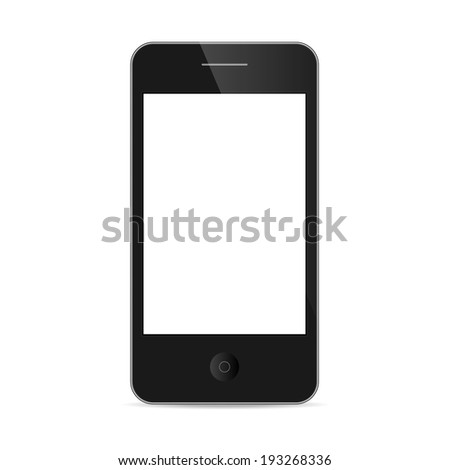 smart phone isolated / realistic  - stock vector
