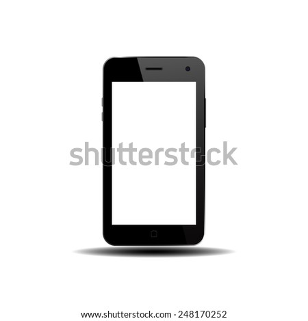 smart phone isolation - stock vector