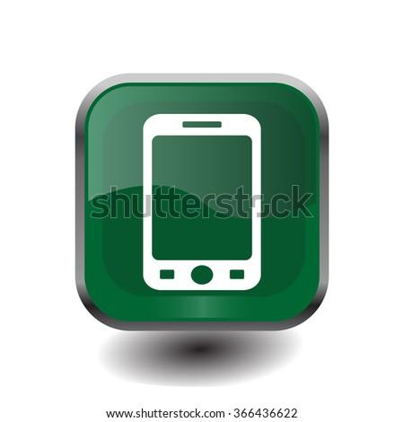smart phone isolation vector - stock vector