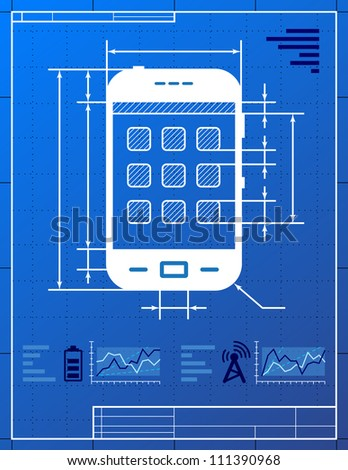 Smart phone like blueprint drawing stylized stock vector 111390968 smart phone like blueprint drawing stylized drawing of smart phone on blueprint paper malvernweather Image collections