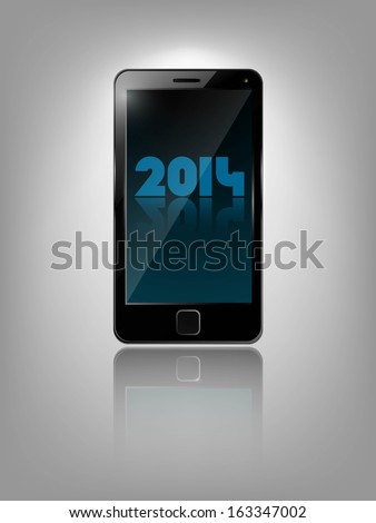 Smart phone, realistic vector illustration.  - stock vector