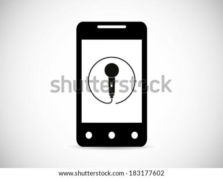 Smart phone Recording Symbol - stock vector