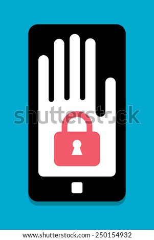 Smart Phone security concept - stock vector
