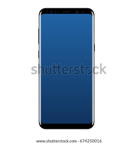 smart phone vector drawing isolated on white background